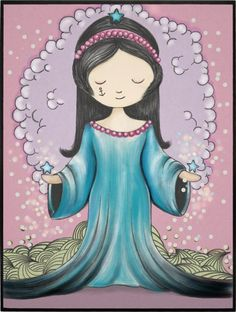 PEQUENA IEMANJÁ Paper App, Pattern Wallpaper, Mystic, Folk Art, Cute Pictures, Disney Characters, Fictional Characters, Illustration Art, Mermaid