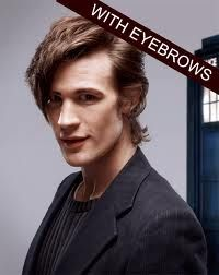 Matt Smith, with eyebrows, mind blown!