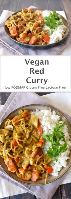 Vegan curry with homemade masala paste and coconut milk. Low FODMAP, gluten-free and lactose-free.