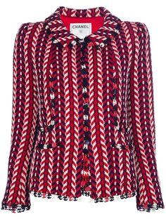 CHANEL woven tweed jacket