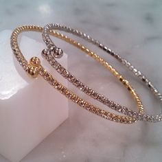 #HolidayBling this is a steal of a deal! $35 for a pair of Pre Stacked Dainty Single Wrap Diamond Bracelets (1 Gold & 1 Silver). I usually individually for $22. #BestSellers <3 TotallySassy.com