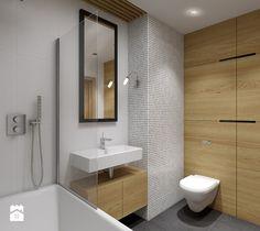 Tub Shower Combo, Shower Tub, Laundry In Bathroom, Small Bathroom, Bathroom Ideas, Bathroom Lighting, Toilet, Bathtub, Mirror