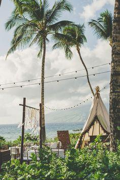 Desert meets beach boho wedding in Maui - inspiration for your dream Hawaii wedding Maui Weddings, Hawaii Wedding, Boho Wedding, Outdoor Weddings, Wedding Rings, Destination Wedding Checklist, Destination Wedding Inspiration, Wedding Ideas, Pergola