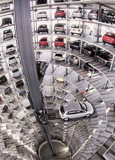 Automated car park. Is this real life?