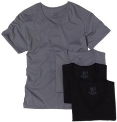 0e47167d Fruit of the Loom Men's V-Neck T-shirt (Pack of 4) at Amazon Men's Clothing  store: Undershirts