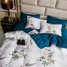 Dreaming Creek Bedding Set – fourlinedesign Cotton Bedding, Linen Bedding, 1 Year Anniversary Gifts, Queen Size Bedding, King Beds, Bed Sheets, Comforters, Duvet Covers, Pillow Cases