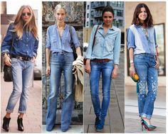 O look total jeans é uma combinação atemporal e impecável.