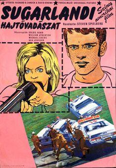 The Sugarland Express (1974). Hungarian poster.