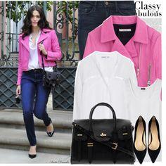Celebrity Street Style:Emmy Rossum