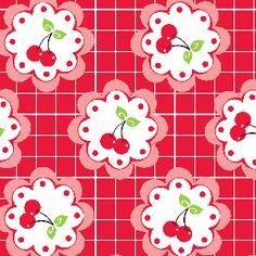 """Cherry Fizz"" quilting fabric."