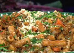 Dinner Tonight! Whole Wheat Rigatoni with Lentil Ragu