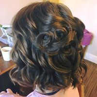 Even bobs can look super elegant when styled in this way for weddings, created by flowers & fringes Hair And Makeup Artist, Hair Makeup, Fringes, Bridesmaid Hair, Wedding Makeup, Bristol, Bobs, Hairdresser, Bridal Hair