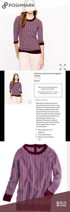 J.crew collection cashmere sweater herringbone Excellent condition J. Crew Sweaters