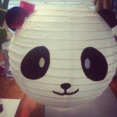 Panda birthday party DIY paper lantern♡
