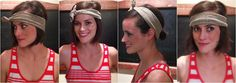 Learn how to wear a fabric headband with short hair.