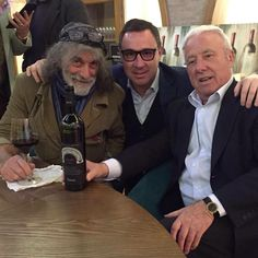 Marco and Loris #Fantinel with our good #friend #MauroCorona #Friuli #Fvg #Winery #Wine #WineTime