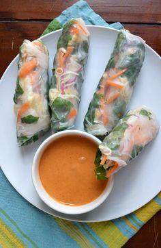 Spring Rolls with Thai Peanut Dip.8