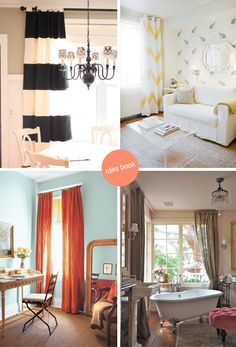Really loving these bold striped drapes although I have nowhere to put them!!
