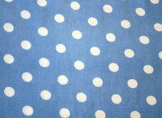Stoff mit Punktenhellblauer fleecestoff blauweiß von PicknickerBlue