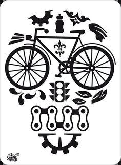 Etiqueta engomada etiqueta reflectante bicicleta para su