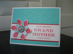 Birthday Card for Grandmother Thank You Card by apaperaffaire, $3.50