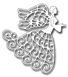Frantic Stamper Precision Die - Lace Angel-The lace angel die measures x a perfect size for a nice focal point. Our Frantic Stamper Precisio Christmas Projects, Holiday Crafts, Christmas Crafts, Christmas Ornaments, Diy Snowflake Decorations, Christmas Decorations, Paper Cutting Patterns, Paper Quilling Flowers, Egg Carton Crafts