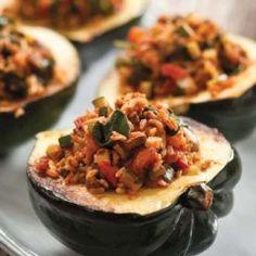 Savory Stuffed Acorn Squash Recipe | The Daily Meal