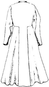 16th and 17th century Polish Dress — Kontusz back