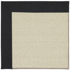 Capel Inspirit Linen Machine Tufted Ebony/Brown Area Rug Rug Size: 4' x 6'