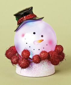 Take a look at this Confetti LED Snowman Head Figurine by Roman, Inc. on #zulily today!