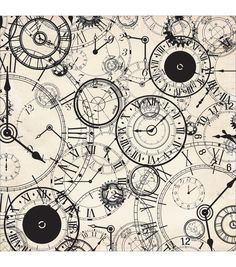 Kaisercraft Time Machine 12''x12'' Spot Varnish Cardstock -Hour