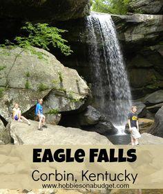 Eagle Falls - Corbin, Kentucky (Cumberland Falls)  What a gorgeous hike! #backyardtourist #kentucky #cumberlandfalls