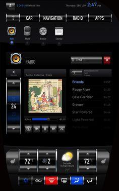 Tesla Model S Touch Screen Center Console Prototype by Zach DeBord, via http://www.behance.net/gallery/Tesla-Model-S-Touch-Screen-Center-Console-Prototype/733996
