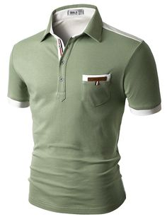 Doublju Mens back color blocked short sleeves polo shirts with pocket point Doublju is perfect brand for customers who are looking for quality item with Polo Shirts With Pockets, Polo T Shirts, Men Shirts, Camisa Polo, Long Sleeve Polo, Short Sleeve Polo Shirts, Short Shirts, Casual T Shirts, Men Casual