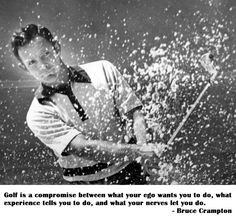 So many things factor into your game. Don't compromise on your clubs, check out the 2nd Swing Golf deals! #Golf #GolfQuotes #Compromise #Wisdom #Nerves #LoveGolf #BruceCrampton #2ndSwingGolf