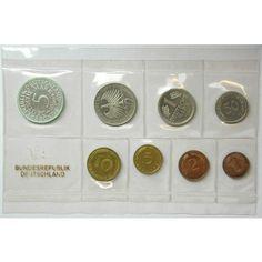 Bundesrepublik Deutschland, Kursmünzensatz 1969, J, PP: Kursmünzensatz 1969 J. Polierte Platte 50,00€ #coins