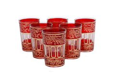 S/6 Lalla Moroccan Glasses, Red on OneKingsLane.com