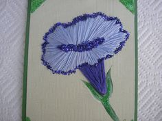Morning Glory Card Hand Stitched Embroidered by LisasPaintedCrafts, $5.50