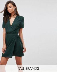 Fashion Union Tall | Fashion Union Tall Wrap Dress With Ribbon Tie