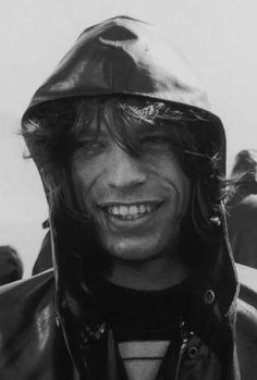 Mick Jagger looking almost like a regular person.