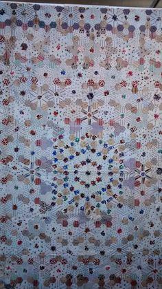 Elke dag een steekje: Nog wat foto's Hexagon quilt