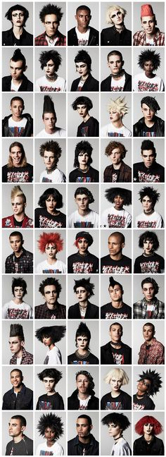 """army of punk rockers. Photographed by Jeff Henrikson"" Looks more like deathrockers but wutevs"