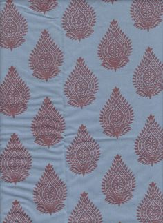 Organic Cotton Indian Fabric By the Yard Blue by EcoFabricStore