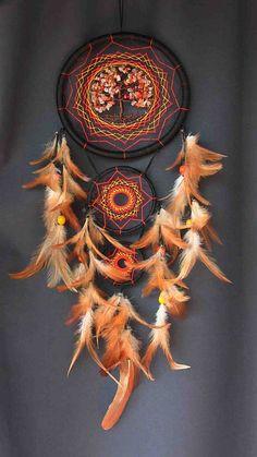 Árbol de la vida sueño Catcher naranja atrapasueños indio