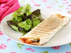 Grilled Roasted Vegetable Pizza Wrap, rather use pre-made quinoa tortillas.
