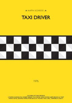 Taxi Driver (1976) ~ Minimal Movie Poster by Soraia Festa #amusementphile
