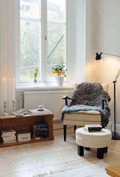 a peaceful little reading corner.