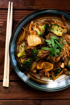 Beef, Broccoli and Kimchi Stirfry by @SpicieFoodie.