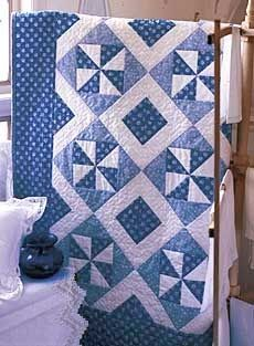 ~ Blue Breeze Classic Lap Quilt Pattern.