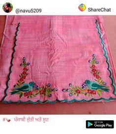 Embroidery Designer Punjabi Suits Patiala, Punjabi Suits Designer Boutique, Boutique Suits, Indian Designer Suits, Punjabi Suit Neck Designs, Kurta Neck Design, Neck Designs For Suits, Dress Neck Designs, Embroidery Suits Punjabi